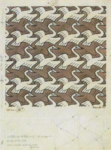 Crane tessellation - M. C. Escher